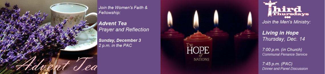 Advent: Men's Ministry and WF&F