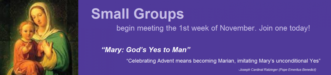 Advent Small Groups