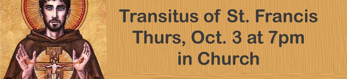 Transitus of St Francis